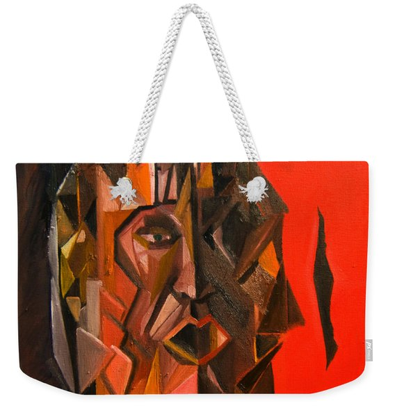 Portrait Mask Weekender Tote Bag