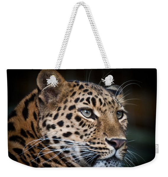 Portrait Of A Leopard Weekender Tote Bag
