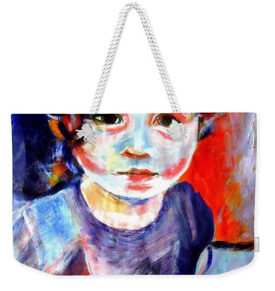 Portrait Of A Little Girl Weekender Tote Bag