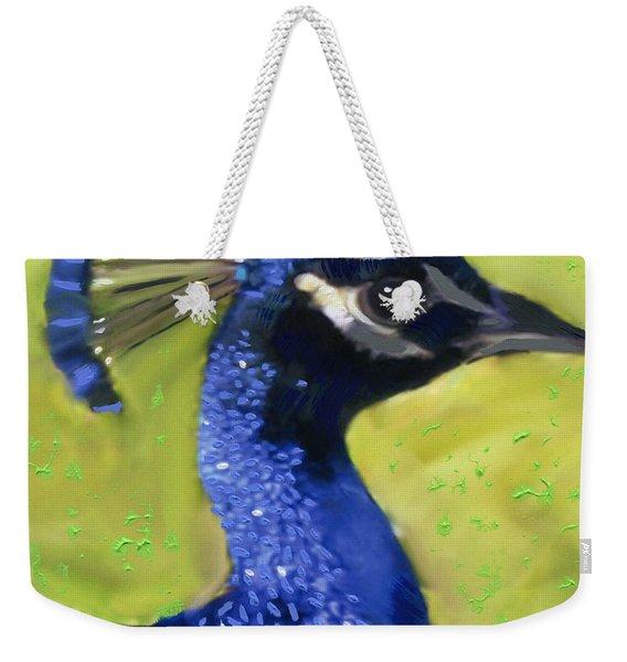 Portrait Of A Peacock Weekender Tote Bag