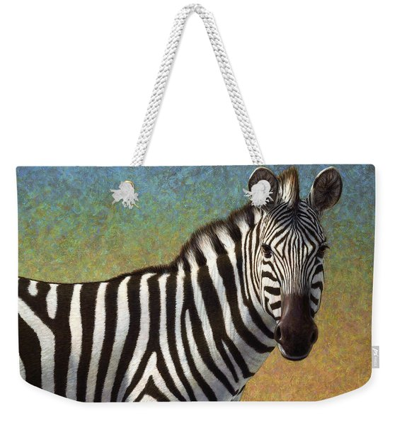 Portrait Of A Zebra Weekender Tote Bag