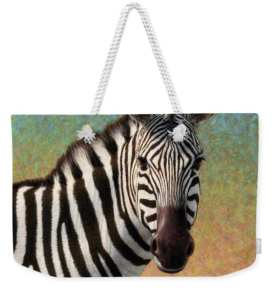 Portrait Of A Zebra - Square Weekender Tote Bag