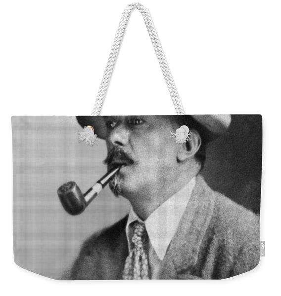 Portrait Of Aleister Crowley Weekender Tote Bag
