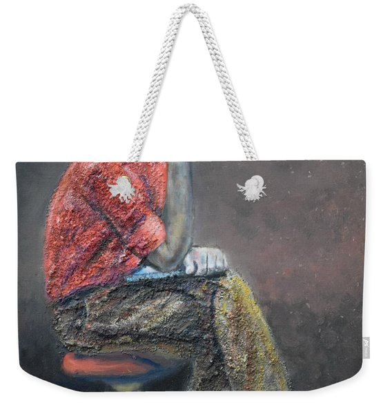 Portrait Of Ali Akrei - The Painter Weekender Tote Bag