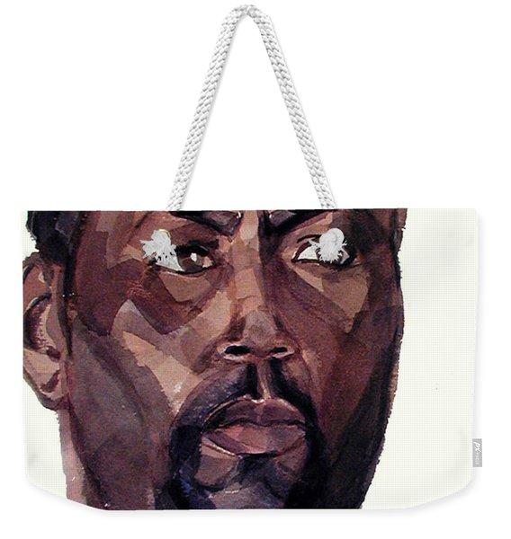 Watercolor Portrait Of An Athlete Weekender Tote Bag