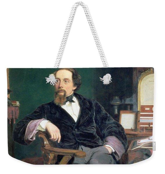 Portrait Of Charles Dickens Weekender Tote Bag