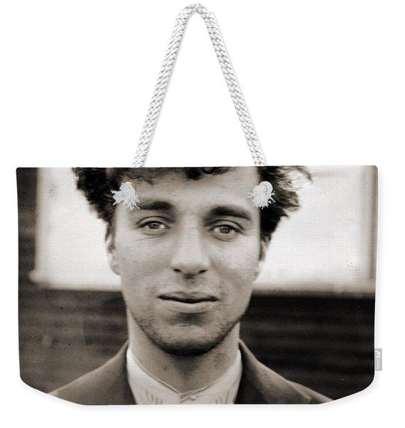 Portrait Of Charlie Chaplain Weekender Tote Bag