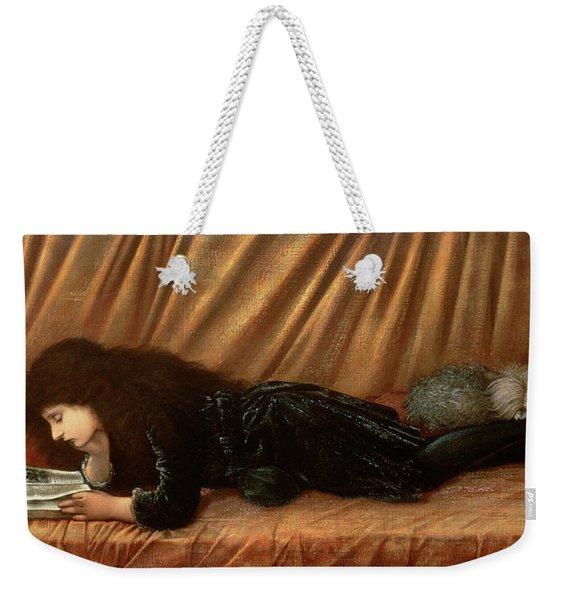 Portrait Of Katie Lewis Weekender Tote Bag