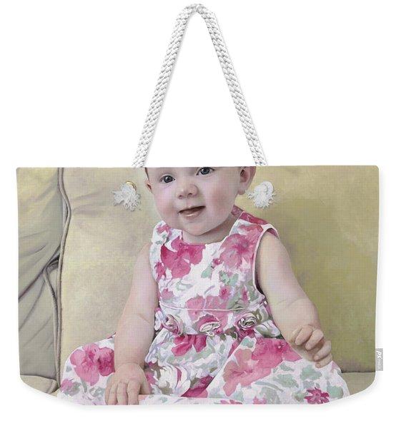 Portrait Of Maddie Weekender Tote Bag