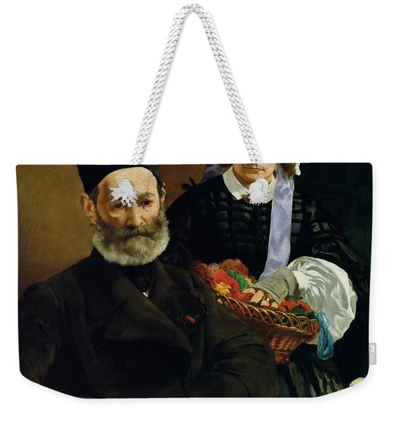 Portrait Of Monsieur And Madame Auguste Manet, 1860 Oil On Canvas Weekender Tote Bag