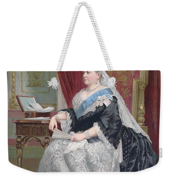Portrait Of Queen Victoria Weekender Tote Bag