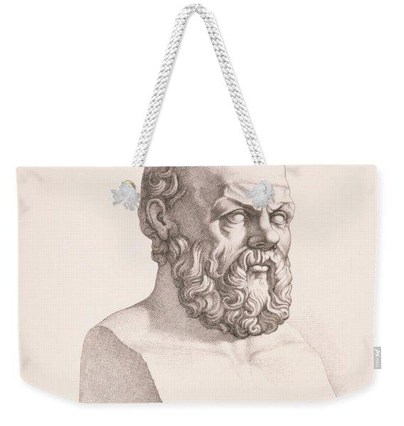 Portrait Of Socrates Weekender Tote Bag