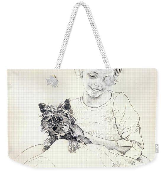 Portrait Of Sylwia Weekender Tote Bag