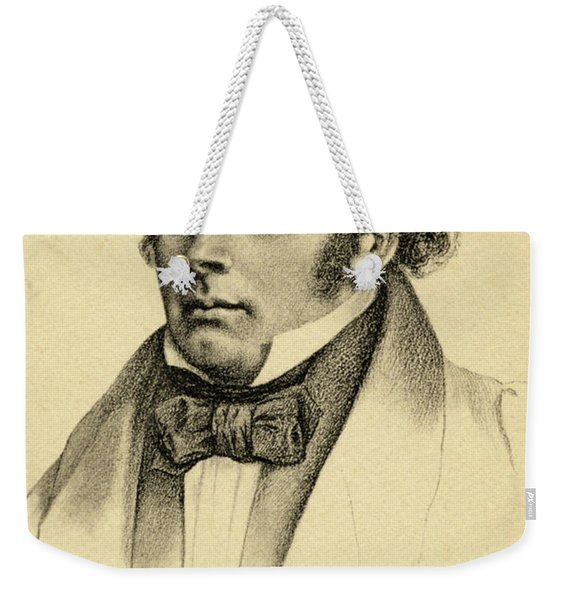 Portrait Of The Composer Franz Schubert Weekender Tote Bag