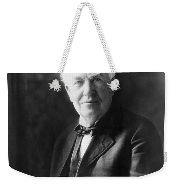 Portrait Of Thomas Edison Weekender Tote Bag