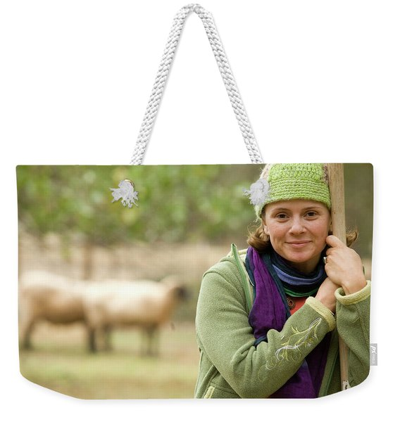 Portrait Of Young Woman Working Weekender Tote Bag