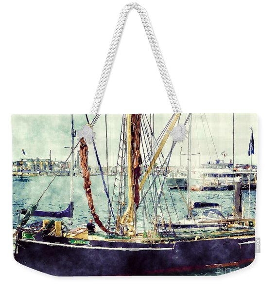 Portsmouth Harbour Boats Weekender Tote Bag