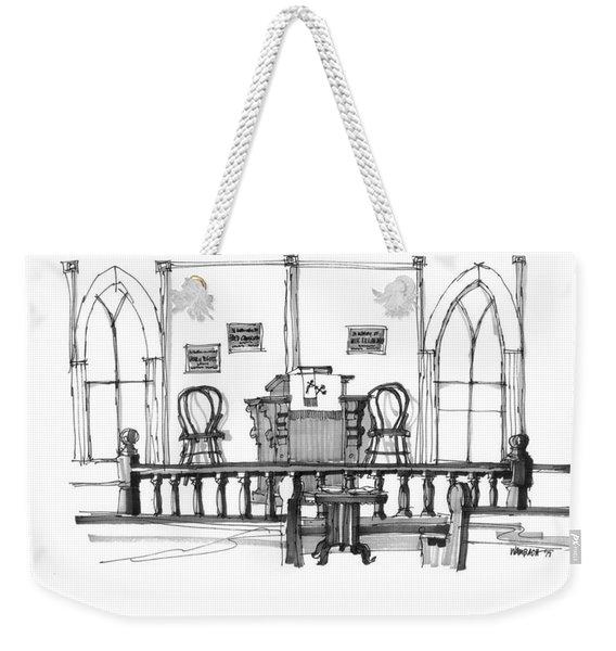 Portsmouth Island Chapel 1970s Weekender Tote Bag