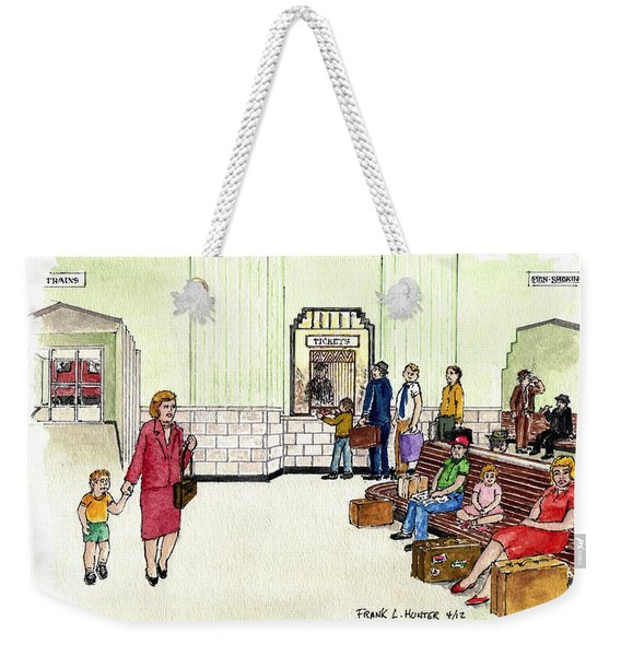 Portsmouth Ohio Train Station Ticket Window Buying A Bag Of Chips1940s Weekender Tote Bag