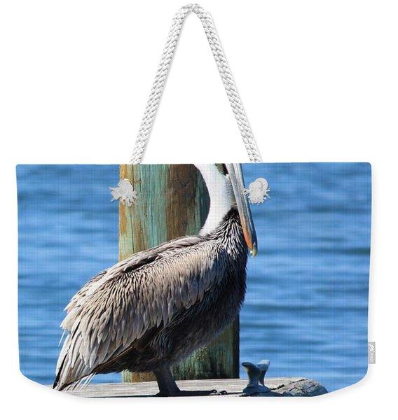 Posing Pelican Weekender Tote Bag