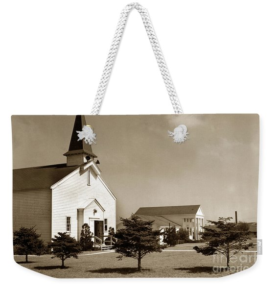 Post Chapel And Red Cross Building Fort Ord Army Base California 1950 Weekender Tote Bag