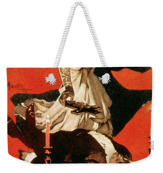 Poster Advertising A Performance Of Tosca Weekender Tote Bag