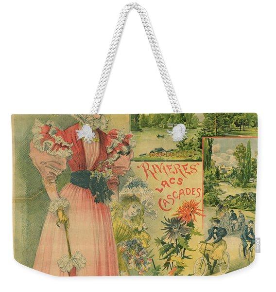 Poster For The Chemins De Fer De Louest To Le Vesinet Weekender Tote Bag