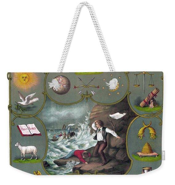 Poster Odd Fellows, C1875 Weekender Tote Bag