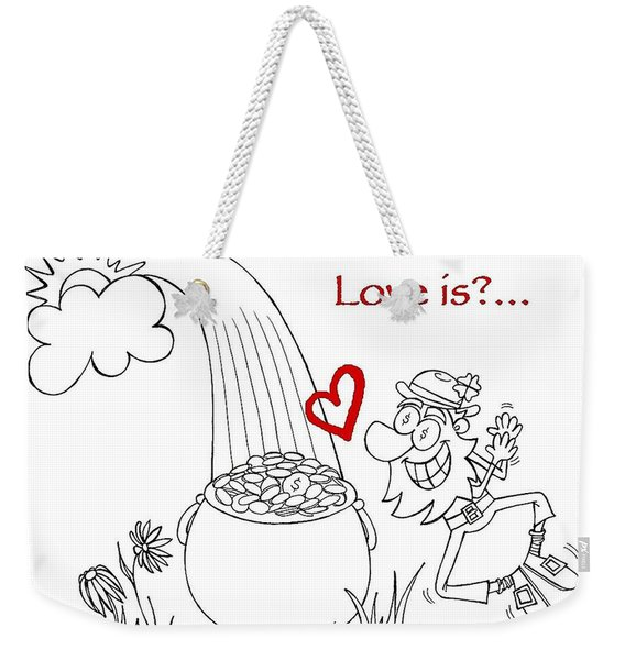 Pot Of Gold Valentines  Weekender Tote Bag