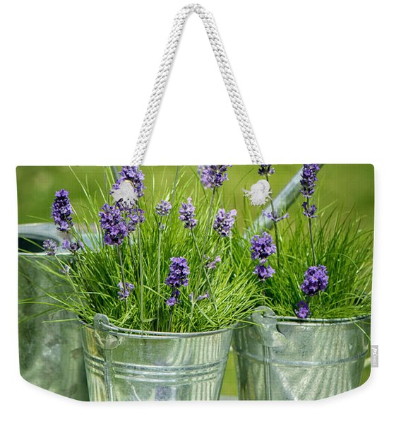 Pots Of Lavender Weekender Tote Bag