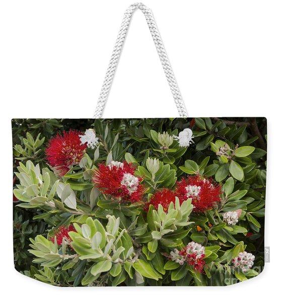 Pohutukawa Blooms Weekender Tote Bag