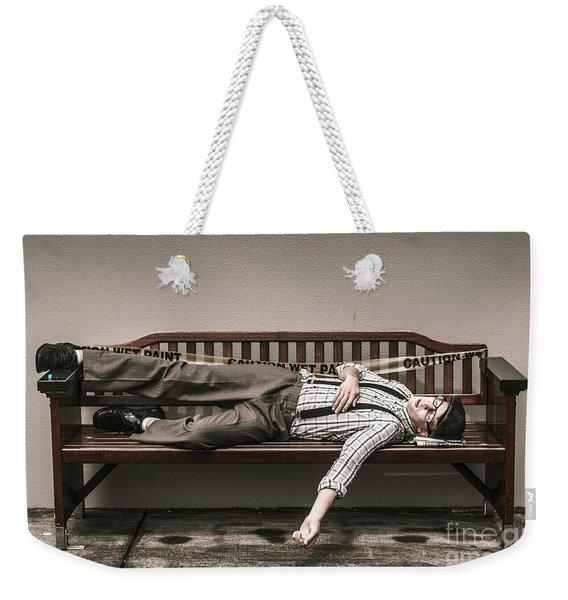 Poverty Stricken Past Weekender Tote Bag