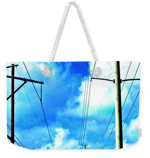 Power To The Infinity Weekender Tote Bag