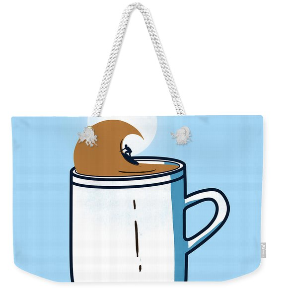 Powered By Coffee Weekender Tote Bag