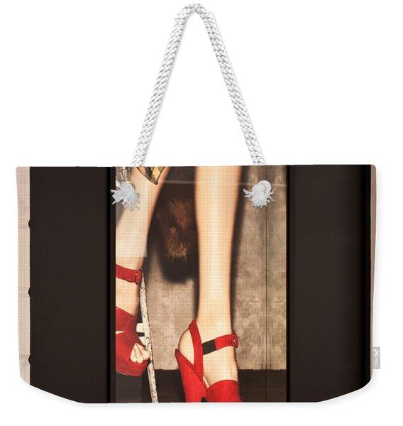 Prada Red Shoes Weekender Tote Bag
