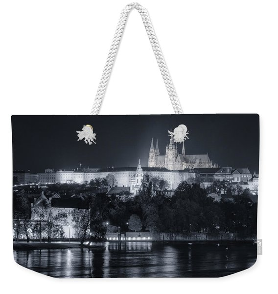 Prague Castle At Night Weekender Tote Bag