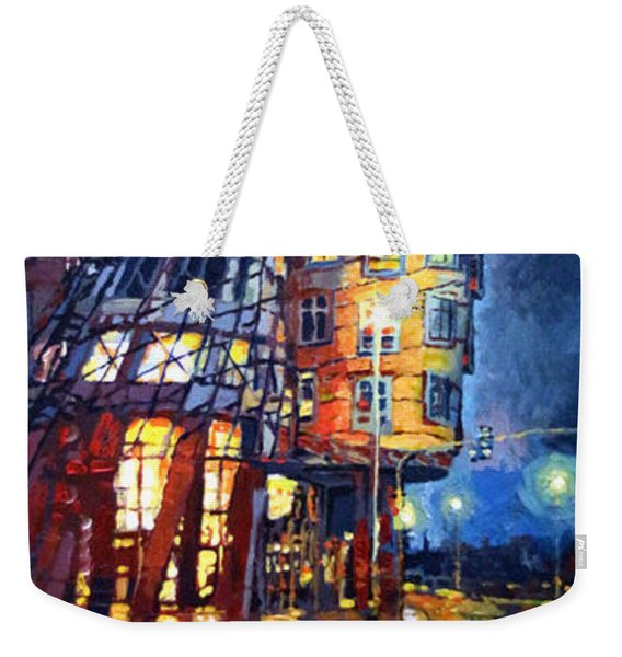 Prague Dancing House  Weekender Tote Bag