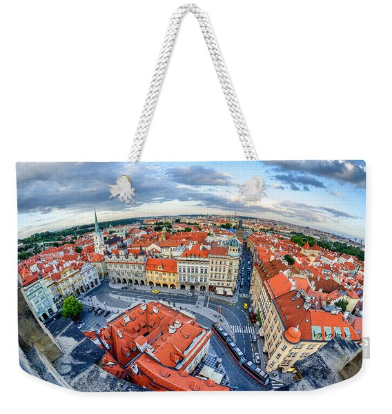Prague From Above Weekender Tote Bag