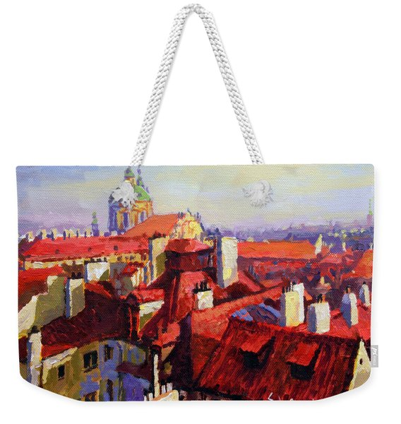 Prague Old Roofs 04 Weekender Tote Bag