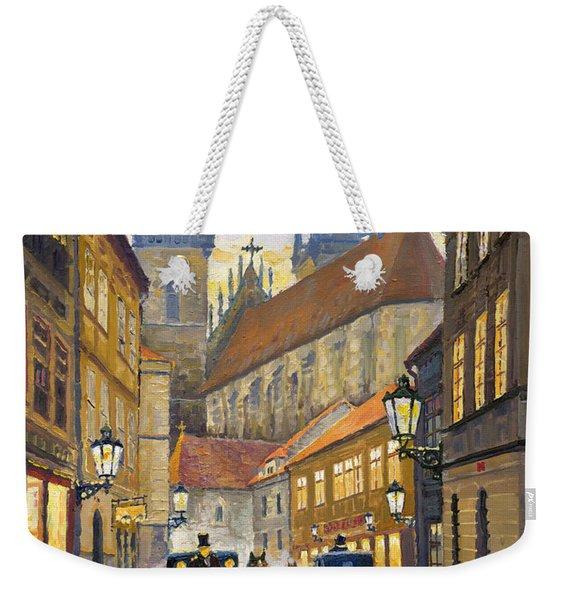 Prague Old Street Stupartska Weekender Tote Bag