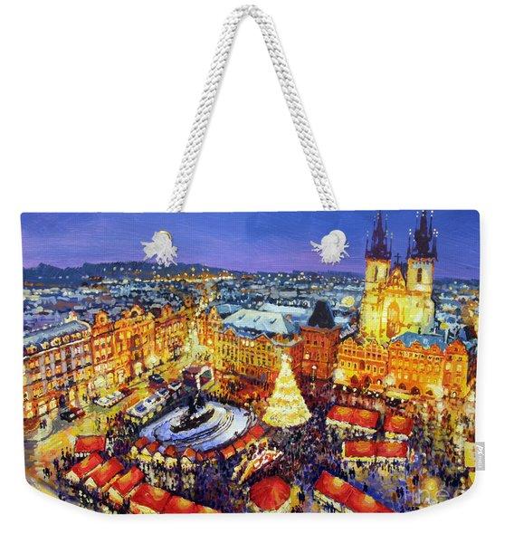 Prague Old Town Square Christmas Market 2014 Weekender Tote Bag