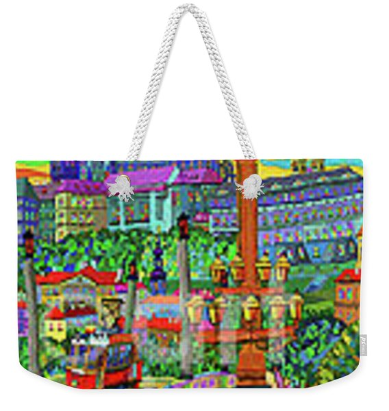 Prague Panorama With Manesuv Bridge Weekender Tote Bag
