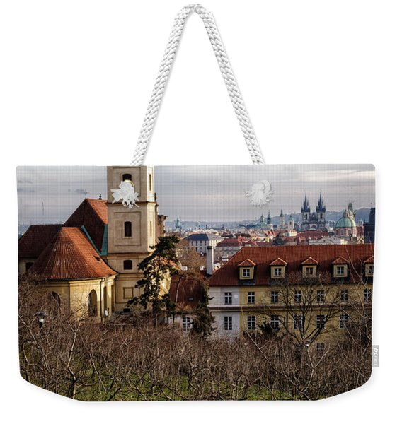 Prague View From The Gardens Weekender Tote Bag