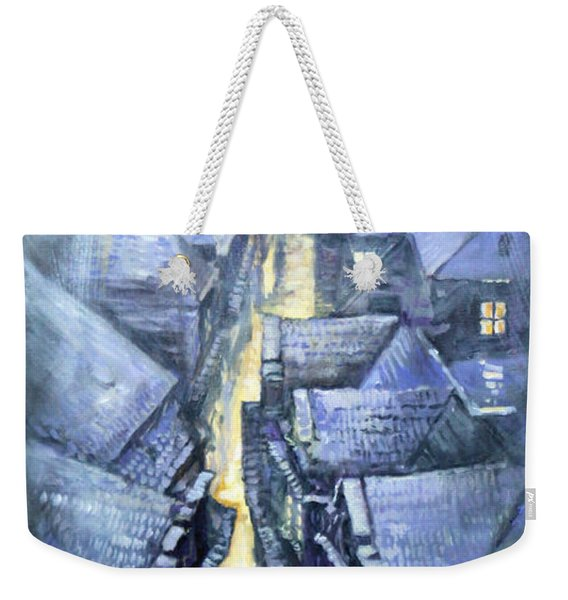 Prague Winter Melantrihova Str Weekender Tote Bag