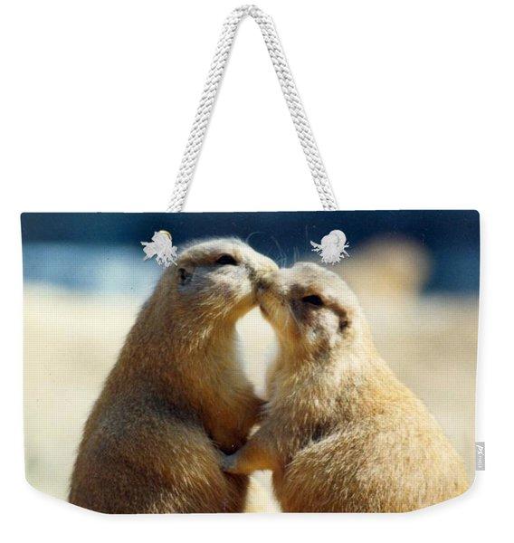 Prairie Dogs Kissing Weekender Tote Bag