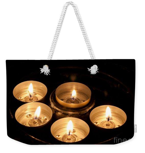 Prayer Candles In Notre Dame Weekender Tote Bag