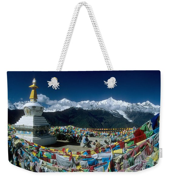 Prayer Flags In The Himalayan Mountains Weekender Tote Bag
