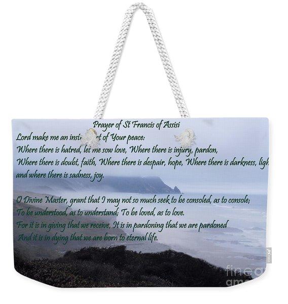 Prayer Of St Francis Of Assisi Weekender Tote Bag
