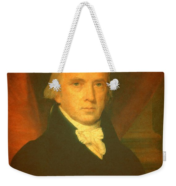 President James Madison Portrait And Signature Weekender Tote Bag