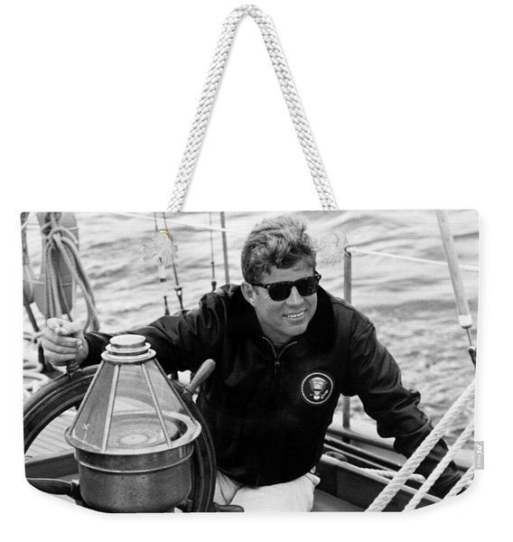 President John Kennedy Sailing Weekender Tote Bag